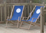 deck chairs on decking
