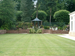garden design in cheshire with gazebo