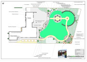 garden design plan with circular features