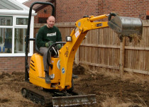 Chris Linforth operating JCB micro