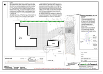 driveway plan for planning permission for non permeable drive